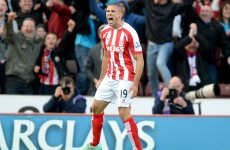 Jonathan Walters has just doubled Stoke's lead at White Hart Lane