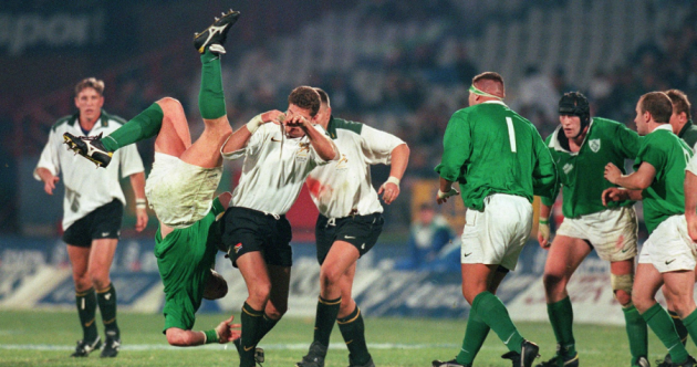 Paulie on Table Mountain, crunching tackles, blonde BOD – 19 old school Ireland South Africa pics