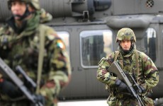 Photos: Irish Defence Forces prepare for action in Sweden
