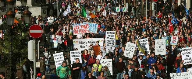 A demonstration in October on O'Connell St