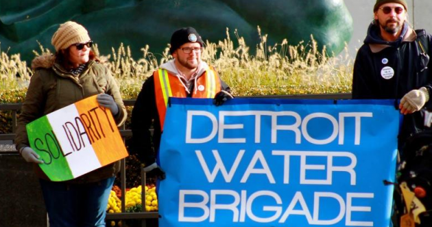 What's all this about water cut-offs and demonstrations in Detroit?