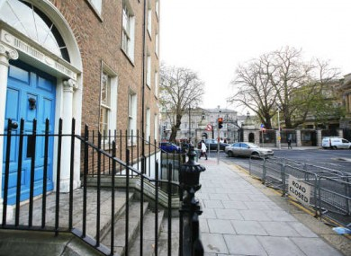 The sheltered doorway on Molesworth Street where Jonathan Corrie was found dead.