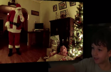 Watch this kid's magical reaction to capturing Santa on hidden camera