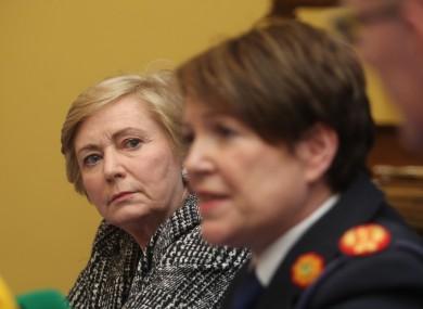 Minister Fitzgerald with Garda Commissoner O'Sullivan