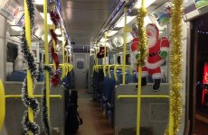 This Irish Rail train was completely decked out for Christmas