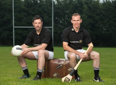 Kilkenny Hurler Noel Hickey and Donegal Footballer Brendan Devenney promoting Guinness this summer.