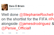Twitter congratulates Stephanie Roche on making the Puskas Award final