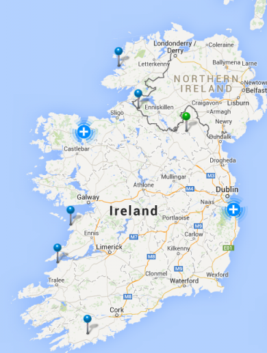 Hundreds without power as strong winds batter Ireland