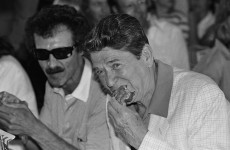 What did Ronald Reagan eat on his visit to Ireland?