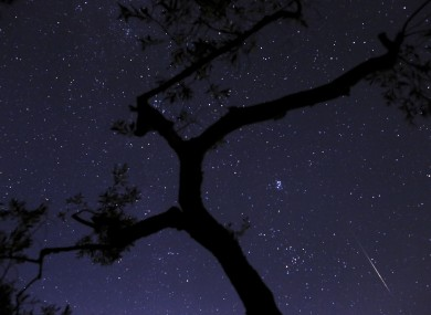 A photo of the Perseids shower.