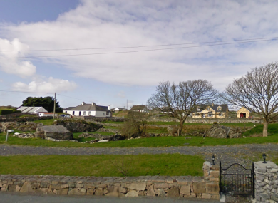Homes near Inverin (Indreabhán) in Galway.
