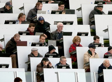Journalists in the press box (file pic).