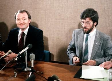 Sinn Féin leader Gerry Adams with then Labour councillor Ken Livingstone in 1983.