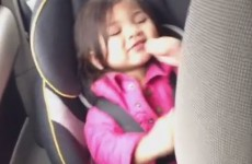 Little girl jamming in the car is you in the club tonight