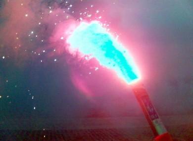 Navy emergency flare