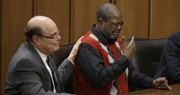 Moment man exonerated after 27 years in prison will bring a tear to your eye