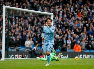 David Silva scored twice for Man City last weekend.
