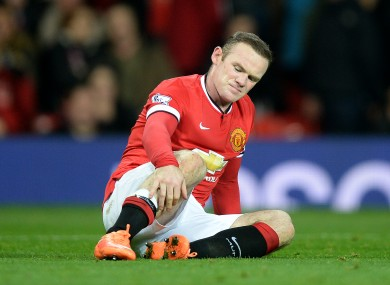 Rooney picked up an injury in the win over Hull.