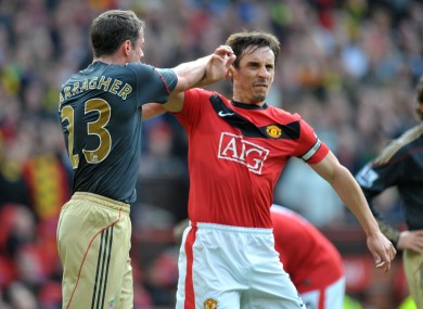 Gary Neville and Jamie Carragher weren't always best of buddies.