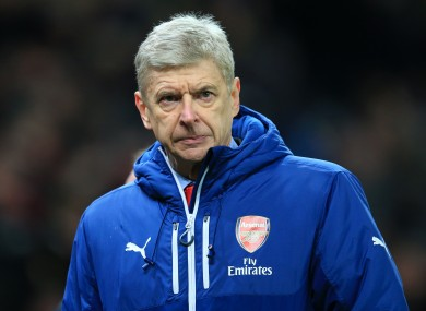 Wenger as been on the receiving end of criticism from a section of the club's supporters.