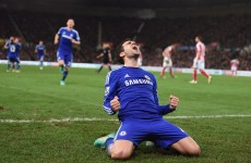 Fabregas stars as Chelsea beat Stoke to open up three-point lead