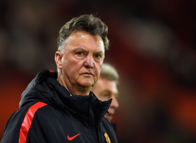 Manchster United manager Louis van Gaal criticised the team's performance.