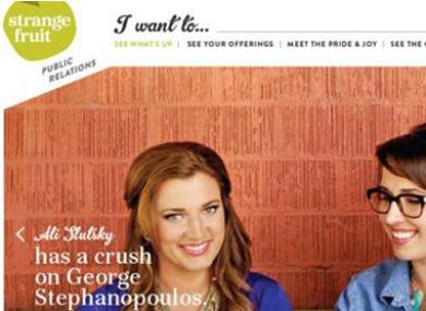 The former Strange Fruit PR webpage