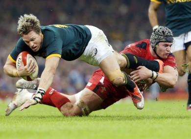 Layoff: South Africa's Jean de Villiers.
