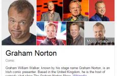 Something seems a bit off in Graham Norton's Google biography…