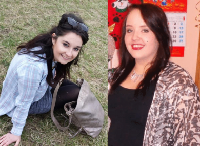 Niamh Doyle and Gemma Nolan in family photographs used for death notices on RIP.ie