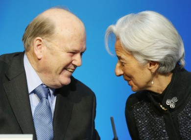 IMF managing director Christine Lagarde and Finance Minister Michael Noonan