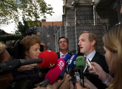 Taoiseach Enda Kenny is quizzed by journalists
