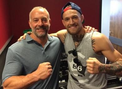 Lorenzo Fertitta pictured with Conor McGregor in Dublin last July.
