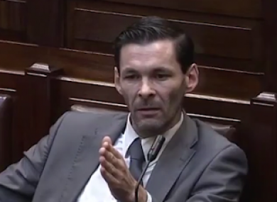 Jonathan O'Brien in the Dáil last week