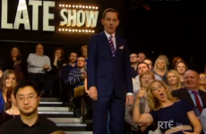 Someone was incredibly excited to be in the Late Late Show audience last night…