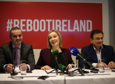 John Leahy, Lucinda Creighton and Eddie Hobbs at the soft launch of their as-yet unnamed political party in January.