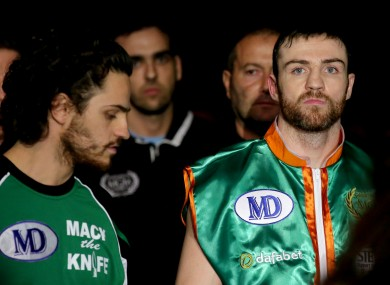 Matthew Macklin (right) was in Dublin for a charity gig.