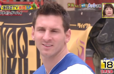 Lionel Messi shows off his incredible touch on Japanese TV
