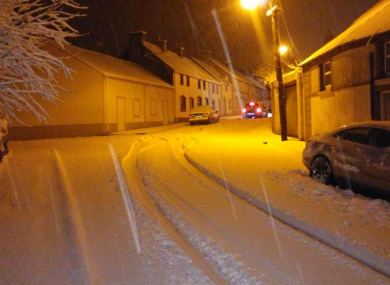 Heavy snow in Kilfinane, Co.Limerick.