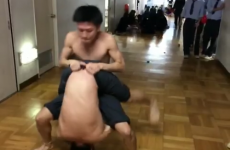 This duo spider crawl is as impressive as it is creepy
