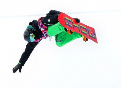 Seamus O'Connor in action in Sochi last year.