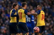 Walcott and Ozil on target as Cup holders Arsenal hold off Brighton