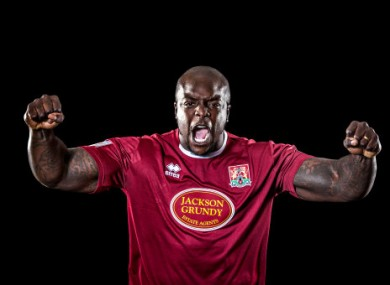 Akinfenwa pictured in his days at Northampton.