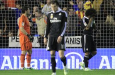 Real Madrid's 22-game unbeaten run comes crashing to a halt against Valencia