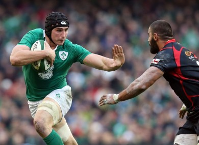 O'Donnell played against Georgia and South Africa in the November Tests
