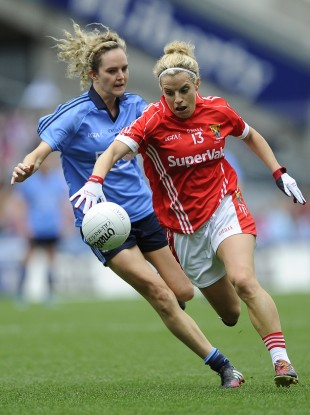 Valerie Mulcahy in action in last year's All-Ireland football final.