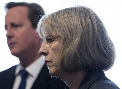 Prime Minster David Cameron and Home Secretary Theresa May (File photo)