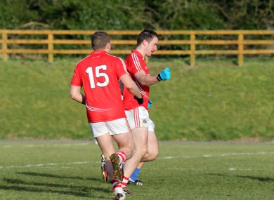 Colm O'Neill celebrates his goal against Monaghan in round two.