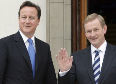 Taoiseach Enda Kenny and Prime Minister David Cameron