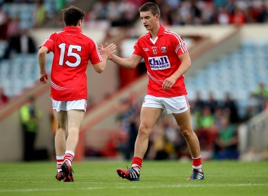 Shane Kingston (right) scored 0-6 today for Rochestown College.